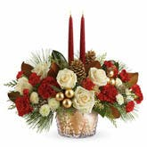 Red And Gold Floral Centerpiece