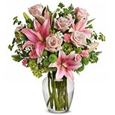 Pink Lime Mixed Bouquet
