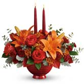 Rose Lily Candle Centerpiece