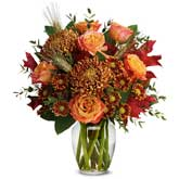 Rust Chrysanthemum Rose Bouquet