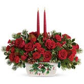 Christmas Rose Candle Centerpiece