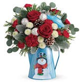 Snowman Christmas Flowers Bouquet