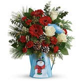 The Holiday Snowman Bouquet
