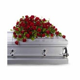 Red Rose Reverence Casket Spray