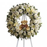 Baby Boy Funeral Flowers Wreath