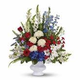 With Distinction Patriotic Bouquet