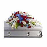 Patriotic Distinguished Service Casket Spray