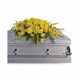 Graceful Grandeur Yellow Casket Spray