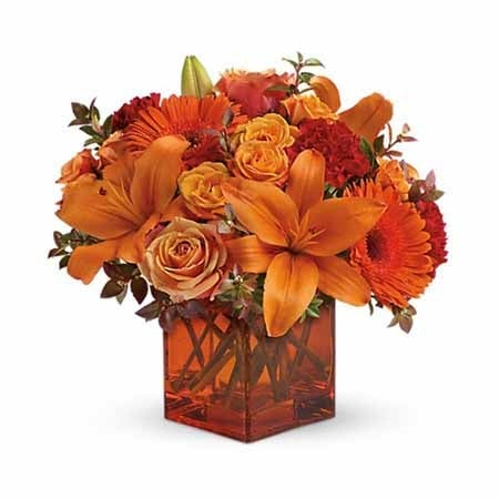 Sunrise Sunset Orange Flower Bouquet