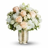 Recipe for Romance White Rose Bouquet