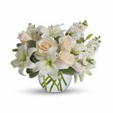 Isle of White Roses Bouquet