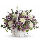 Sweet Moments White Rose Basket