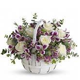 Sweet Moments White Rose Basket