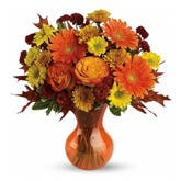Forever Fall Orange Flower Bouquet