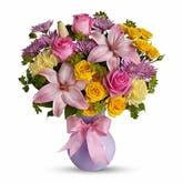 Purrific Pink Lily Bouquet