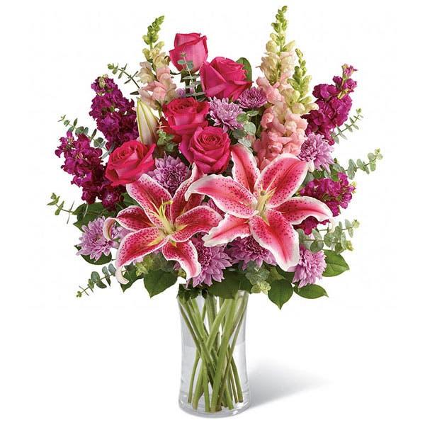 Vibrantly Pink Stargazer Bouquet