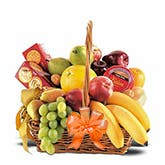 Fruit And Cheese Gift Basket Orange Bow