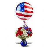 Patriotic Balloon And Flowers