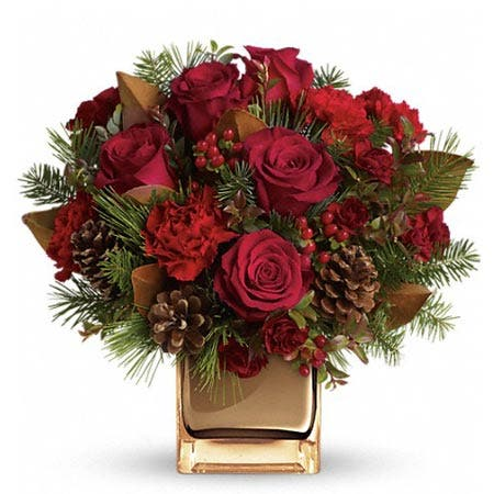 Warm Tidings Red Rose Bouquet